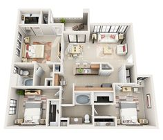 Bring by your whole family for a tour of our 3bd/2bath floor plans #lasvegasapartments