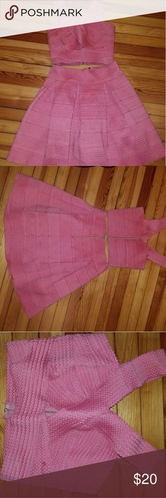 Two piece bandage dress Pink 2 piece Charlotte Russe Dresses High Low