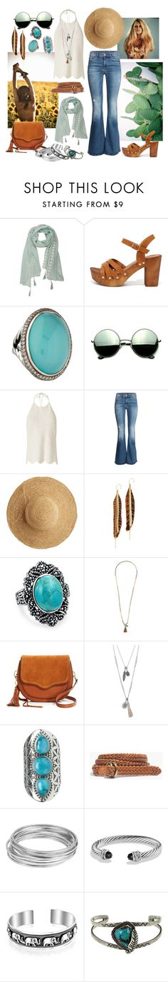 """La Bohème"" by sophier ❤ liked on Polyvore featuring Qupid, David Yurman, Revo, Exclusive for Intermix, H&M, Flora Bella, Serefina, Bling Jewelry, Eloquii and Rebecca Minkoff"