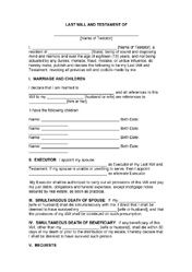 Minnesota Last Will And Testament Form | cool stuff | Pinterest ...