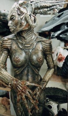 """HR Giger from the movie """"Species"""" original movie prop Zurich, Dark Fantasy, Fantasy Art, Aliens, Hr Giger Art, Giger Alien, Horror Monsters, Alien Vs Predator, Alien Creatures"""