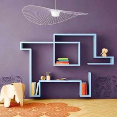 Lagolinea takes the shape you want.  #kids #rooms #bedrooms #bookshelf