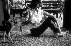 """33-1115 Audrey Hepburn at home while filming """"Green Mansions"""""""