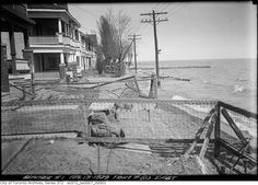 The waterfront of 'The Beach' in eastend 1929 Toronto, before the boardwalk.