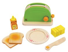 Would like some wood accessories for Max's new kitchen. Hape Rise n Shine Toaster - The Play Room