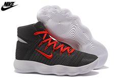 bcd8aeb37382 MenS Nike React Hyperdunk 2017 Flyknit Basketball Shoes Coal Black Red