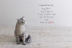 作品集の画像 Needle Felted Cat, Felt Cat, Patience, Place Card Holders, Kitty, Cats, Love Is, Fashion, Little Kitty