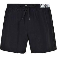 MOSCHINO Nikel Logo Swimming Shorts ($120) ❤ liked on Polyvore featuring swimwear, swim trunks, moschino swimwear, moschino beachwear and moschino