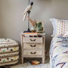 This stylish take on our popular Chantilly Bedside Table will make an elegant addition to your bedside. Decor, Table, Table Furniture, White Wash, Rustic Bedside Table, Home Decor, Home Decor Accessories, Furniture, Bedside Table