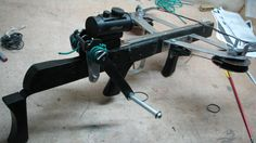 Inswinger crossbow (Rubber powered)
