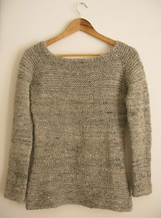 Caora sweater by littletheorem : : A simple sweater with chunky garter stitch accents to show off your handspun yarn