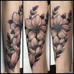 grey wash tattoo flower - Google Search