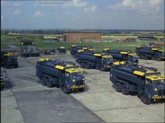 RAF Leyland Hippo Pressure refuelling bowsers. An AEC 6x6 Matador on the left also