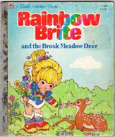 Vintage 80s Childrens Rainbow Brite Golden Book. $6.00, via Etsy.