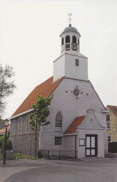 Postcard sent to Japan >> Protestant church (1719) in De Koog, Texel (The Netherlands)