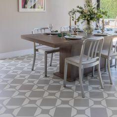 Dovetail Flax – Floor Tiles by Neisha Crosland for Harvey Maria Harvey Maria, Attic Bathroom, Vinyl Flooring, Plank, Tile Floor, Tiles, Dining Table, Kitchen Designs, Interior Ideas