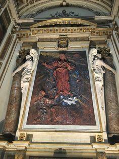 Lucio Fontana 'Apparizione del Sacro Cuore di Gesù a Santa Margherita' - chiesa di San Fedele