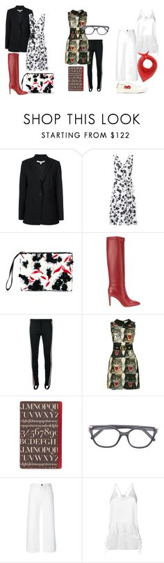 """""""The Hot List: July"""" by farfetch ❤ liked on Polyvore featuring Veronica Beard, Altuzarra, Marni, Gianvito Rossi, Gucci, Assouline Publishing, Lost & Found, Elizabeth and James and Paco Rabanne"""