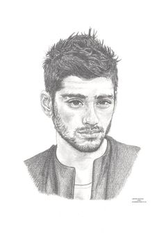 ZAYN MALIK ex-one direction 1D Limited Edition by ArcadiaPortraits