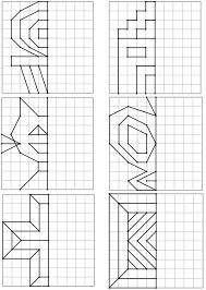 Voici un nouveau dos Kids Math Worksheets, Preschool Activities, Preschool Writing, Symmetry Math, Graph Paper Art, Cycle 2, Math Art, Math For Kids, Home Schooling
