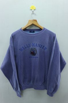 d8ae9e627127 Vintage Helly Hansen Minimalist Logo Sweatshirt Outdoor Work Wear Sweater  Tag Read Size   Not in