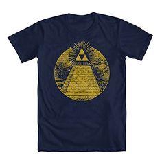 04caa99bd Zelda Triforce Illuminati Pyramid Mens T-Shirt Blue Medium @  niftywarehouse.com