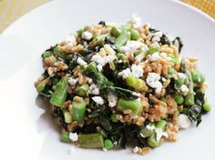Warm Farro Salad With Asparagus, Peas, and Feta | Serious Eats : Recipes