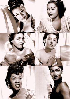Ladies of Jazz: Ella Fitzgerald (April 1917 - June Billie Holiday (April 1915 - June Thelma Carpenter (January 1922 - May Lena Horne (June 1917 - May Sarah Vaughan (March 1954 - April Pearl Bailey (March 1918 - August Real Divas! Billie Holiday, Afro, Divas, My Black Is Beautiful, Beautiful People, Beautiful Ladies, Pretty People, Model Tips, Pearl Bailey
