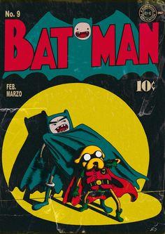 Finn and Jake presents: BATMAN by ~yupiyeyo / #adventuretime #batman