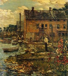 Frederick Childe Hassam: The Fishermen, Cos Cob (1907)