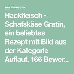 Hackfleisch - Schafskäse Gratin, ein beliebtes Rezept mit Bild aus der Kategorie Auflauf. 166 Bewertungen: Ø 4,5. Tags: Auflauf, Hauptspeise, Kartoffeln, Käse, Party, Rind, Schwein