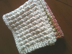 Hand Knitted Dish Cloth by GranasCorner on Etsy, $10.00