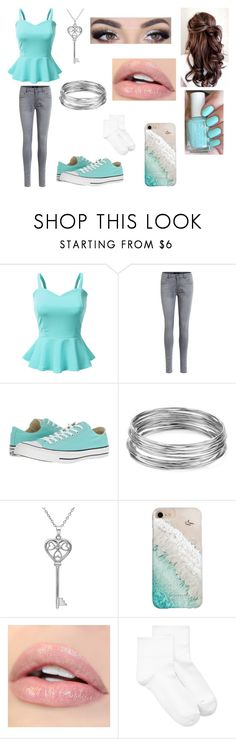 """""""Teal Casual"""" by ashgordan on Polyvore featuring Doublju, Object Collectors Item, Converse, Aqua, Amanda Rose Collection, Gray Malin, Hue, Summer and casual"""