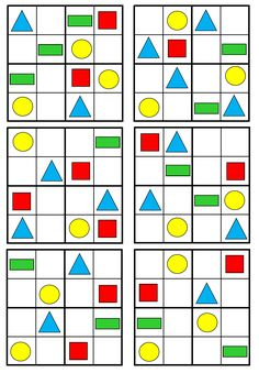 Sudoku - geometrické tvary Shapes For Kids, Math For Kids, Puzzles For Kids, 1st Grade Math Worksheets, Preschool Worksheets, Opposites Worksheet, Blank Coloring Pages, English Worksheets For Kids, Sudoku Puzzles