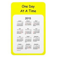2015 Magnet Calendar by Janz One Day Yellow
