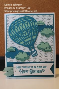 Stampin' Up! 2017 Occasions Catalog, Lift Me Up Stamp Set and Up & Away Thinlits