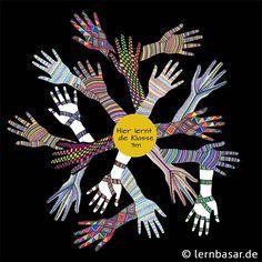 Tolle bunte Hände zum Verschönern des Klassenzimmers - ein Projekt für den Kunstunterricht - Startpunkt DE