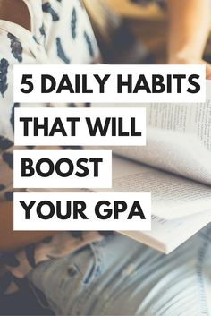 Are you wanting to improve your grades, increase your GPA, and just feel altogether more prepared in college? If so, then you need to start doing these five daily grade-boosting habits. College tips for success.