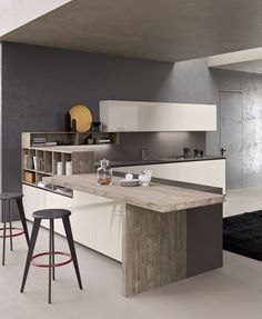 Forma peninsula by Comprex | Island kitchens