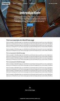 Company #WordPress #Business or #Organization Theme - www.wpchats.com