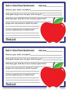 letters to parents template