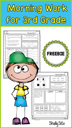 Homework or morning work for 3rd grade--Click on preview for FREE sample pages--spiral review for third grade