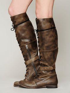 For short dresses/leggings with knee socks  Free People Landmark Lace Boot, $348.00