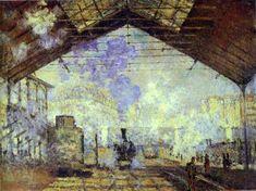 Saint-Lazare Station by Claude Monet (1877) Auguste Rodin, Monet Paintings, Impressionist Paintings, Landscape Paintings, Claude Monet, Paul Cezanne, Camille Pissarro, Renoir, Toulouse