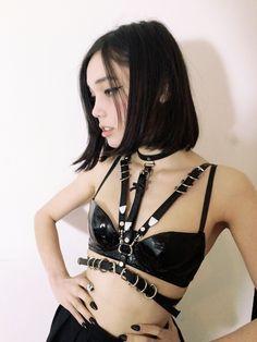 Maliya Harness ( Black + Silver ) · CREEPYYEHA · Online Store Powered by Storenvy