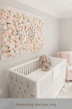 Baby Nursery Inspiration: 50 Wonderful Baby Nursery Ideas - - Looking to decorate your little one's nursery? Check out these adorable baby nursery inspiration and ideas that you can try at home. Baby Room Themes, Baby Girl Nursery Themes, Baby Room Decor, Baby Bedroom, Bedroom Decor, Girls Bedroom, Princess Nursery Theme, Room Baby, Star Nursery