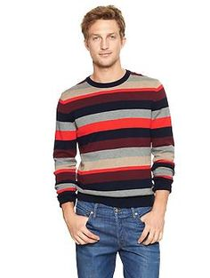 Multi-striped sweater; love the old school apres ski look to this sweater.