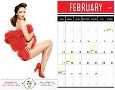 Your 2013 Vanities Girls Pinup Calendar | Vanity Fair Emily Blunt as Miss February