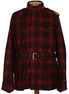 Mario Matteo Italy Mens Wool Plaid Trenchcoat Coat 46r Euro 56 Removable Vest