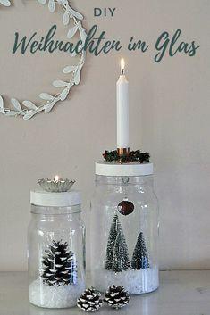 DIY Weihnachten im Glas Christmas World, Christmas Time, Merry Christmas, Diy Hanging Shelves, Christmas Presents, Christmas Candles, Diy Gifts, Christmas Crafts, Christmas Decorations